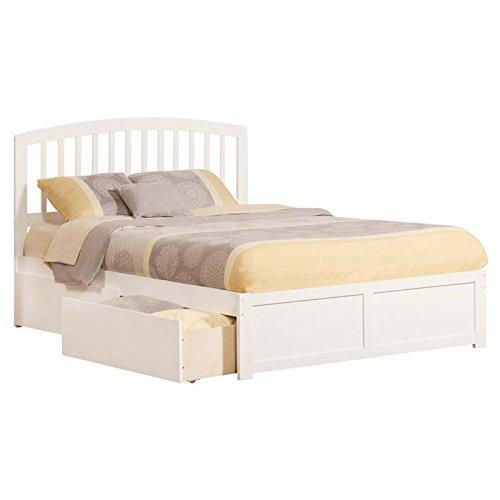 Atlantic Furniture Richmond Urban Queen Storage Platform Bed in White