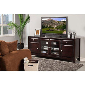 Benzara Stand BM172035 Spacious Wooden Tv Console, Brown, One