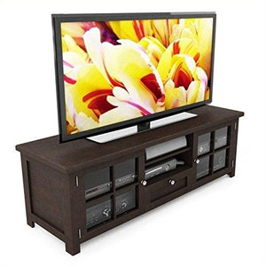 "Atlin Designs 63"" TV Stand in Dark Stained Espresso"