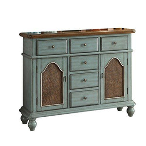 ACME Furniture  Telissa Console Table, Antique Blue and Oak