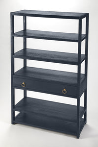 Lark Navy Blue Bookshelf