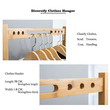 Load image into Gallery viewer, Budget nnewvante coat rack bench hall trees shoes rack entryway 3 in 1 shelf organizer shelf environmental bamboo furniture bamboo 29 5x13 8x70in