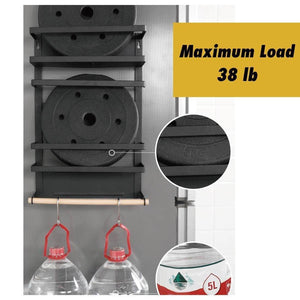 Discover the best kitchen rack magnetic fridge organizer 18 1x11 8x4 4 inch paper towel holder rustproof spice jars rack plastic wrap holder refrigerator shelf storage including 5 removable hook 201 white