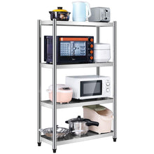 Load image into Gallery viewer, Amazon best kitchen shelf stainless steel microwave oven rack multi function kitchen cabinet and cabinet rack storage rack 5 sizes kitchen storage racks size 10040130cm