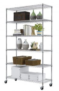 Featured home it 6 shelf commercial adjustable steel shelving systems on wheels wire shelves shelving unit or garage shelving storage racks