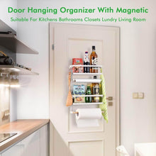 Load image into Gallery viewer, Amazon refrigerator organizer rack magnetic kitchen magnetic holder with hook strong power magnet for paper towel holder rustproof spice jars rack refrigerator shelf storage hanger oganizer tool 19 x13x5 3in
