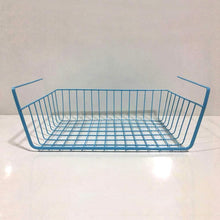 Load image into Gallery viewer, Storage organizer esupport under shelf storage basket hanging under cabinet wire basket organizer rack dormitory bedside corner shelves for kitchen pantry desk bookshelf cupboard