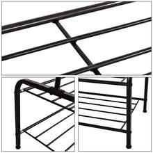 Load image into Gallery viewer, Kitchen clothes rack metal garment racks heavy duty indoor bedroom cool clothing hanger with top rod and lower storage shelf 59 x 60 length x height high storage rack black
