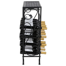 Load image into Gallery viewer, Buy smartxchoices 16 bottle wine rack table top with glass hanger wine bottle holder solid metal floor free standing wine organizer shelf side table for cabinet kitchen