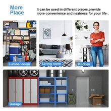 Load image into Gallery viewer, Budget detailorpin changeable assembly floor standing carbon steel storage rack multipurpose shelf display rack for kitchen garage bedroom storage display shelves us stock black