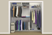 Load image into Gallery viewer, Shop here closetmaid 22875 shelftrack 5ft to 8ft adjustable closet organizer kit white