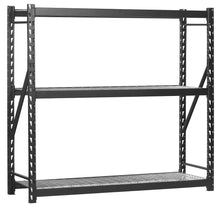 Load image into Gallery viewer, Great muscle rack erz772472wl3 black heavy duty steel welded storage rack 3 shelves 1 000 lb capacity per shelf 72 height x 77 width x 24 depth pack of 3