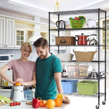 Load image into Gallery viewer, Heavy duty 6 tier storage shelves metal wire shelving unit height adjustable nsf heavy duty garage shelving with wheels 48x18x82 commercial grade utility shelf rack for restaurant basement garage kitchen