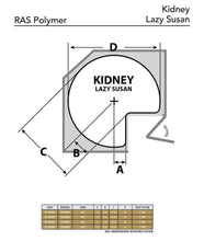 Load image into Gallery viewer, Amazon rev a shelf 6472 32 11 52 32 in white polymer 2 shelf kidney shape lazy susan set