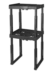 Related tools for school locker shelf adjustable width 8 12 1 2 and height 9 3 4 14 stackable and heavy duty holds 40 lbs per shelf black double