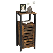 Load image into Gallery viewer, Shop vasagle industrial bathroom storage cabinet end table storage floor cabinet with shelf multifunctional in living room bedroom hallway rustic brown ulsc34bx