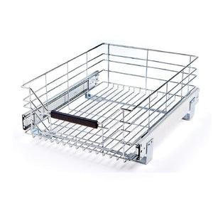 "Seville Classics UltraDurable Commercial-Grade Pull-Out Sliding Steel Wire Cabinet Organizer Drawer, 14"" W x 17.75"" D x 6.3"" H"