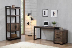 Luke Weathered Oak Office Desk