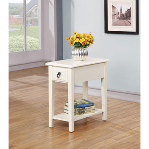 Acme Jeana Side Table in White Finish 80513