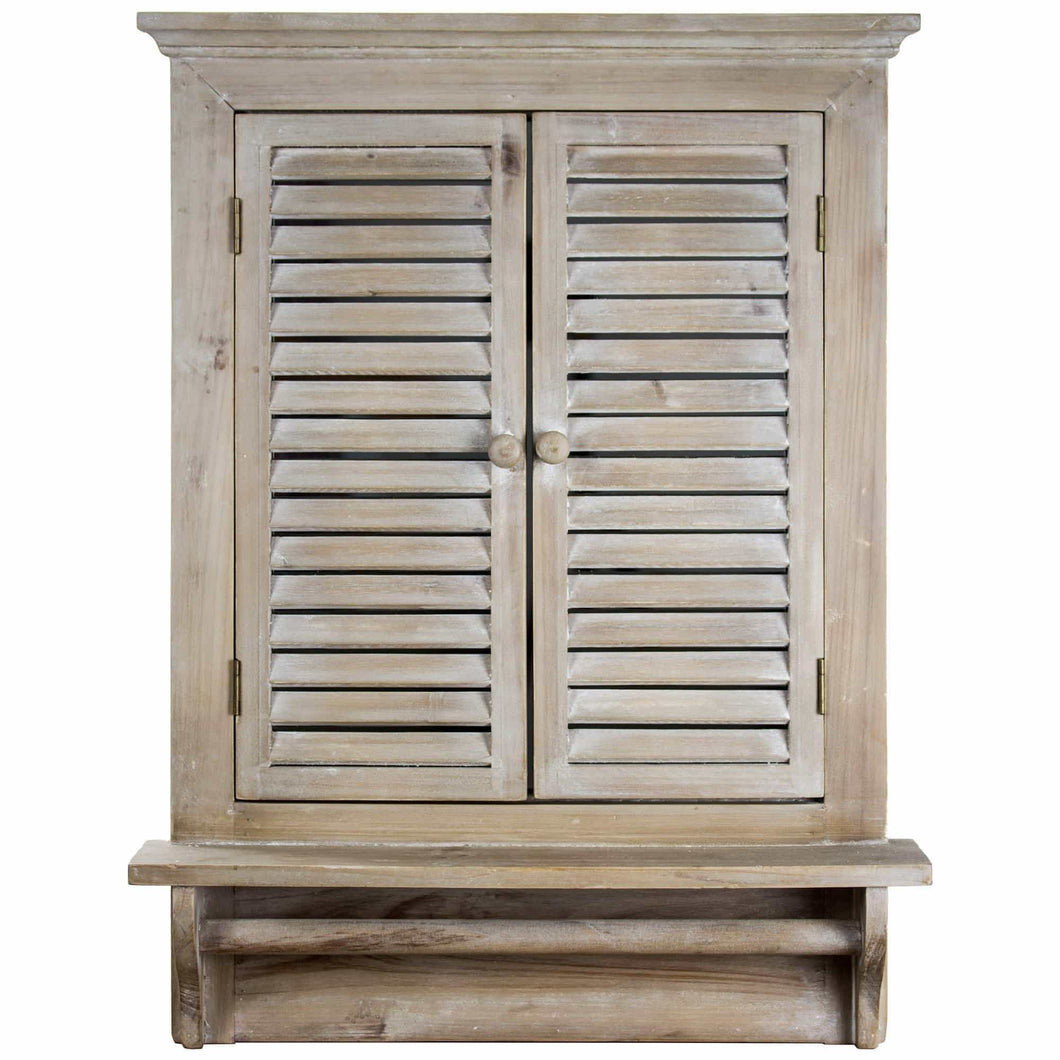 Best american art decor rustic country window shutter wall vanity accent mirror with shelf and towel rod 28 25h x 21l x 4 75d