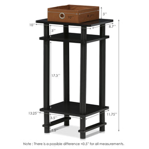 Furinno Tall End Table 17017EX/BR