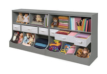 Load image into Gallery viewer, Great freestanding combo shelf cubby bin storage organizer unit with 3 baskets