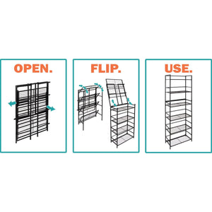 Discover the best flipshelf flipcube folding metal cube organizer small space solution no assembly home closet bathroom and office shelving black 4 cube organizer