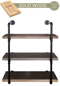 On amazon 2choice industrial pipe shelving rustic shelves solid canadian wood vintage sleek pipe shelves for floating bookshelf kitchen living room versatile home decor wall mounted storage 3 tier