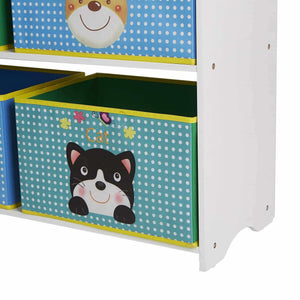 Top mind reader gibook wht toy kids storage book shelf toy bin organizer white