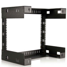 Load image into Gallery viewer, Storage organizer startech com 8u wall mount patch panel rack 12 inch deep wall mount network rack shelf fixed open frame rack rk812wallo