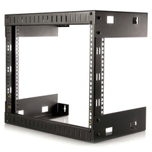 Load image into Gallery viewer, Shop startech com 8u wall mount patch panel rack 12 inch deep wall mount network rack shelf fixed open frame rack rk812wallo
