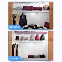 Load image into Gallery viewer, Results shelf dividers for closets sturdy closet organizer and storage separator to tidy your linen purses sweater more new 2019 titansecure metal shelf organizer work with 12 wire shelves set of 8