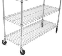 Load image into Gallery viewer, Save internets best 6 tier wire shelving chrome heavy duty shelf wide adjustable rack unit with locking wheels kitchen storage