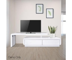 160cm High Gloss TV Unit
