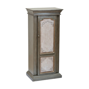 Acme Furniture Riker Antique Gray And Antique Beige Jewelry Armoire 97206