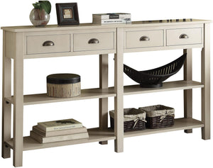 Acme Furniture Galileo Cream Console Table 97250