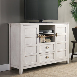 "Angelo White Wash 52"" Rustic Chic TV Console"