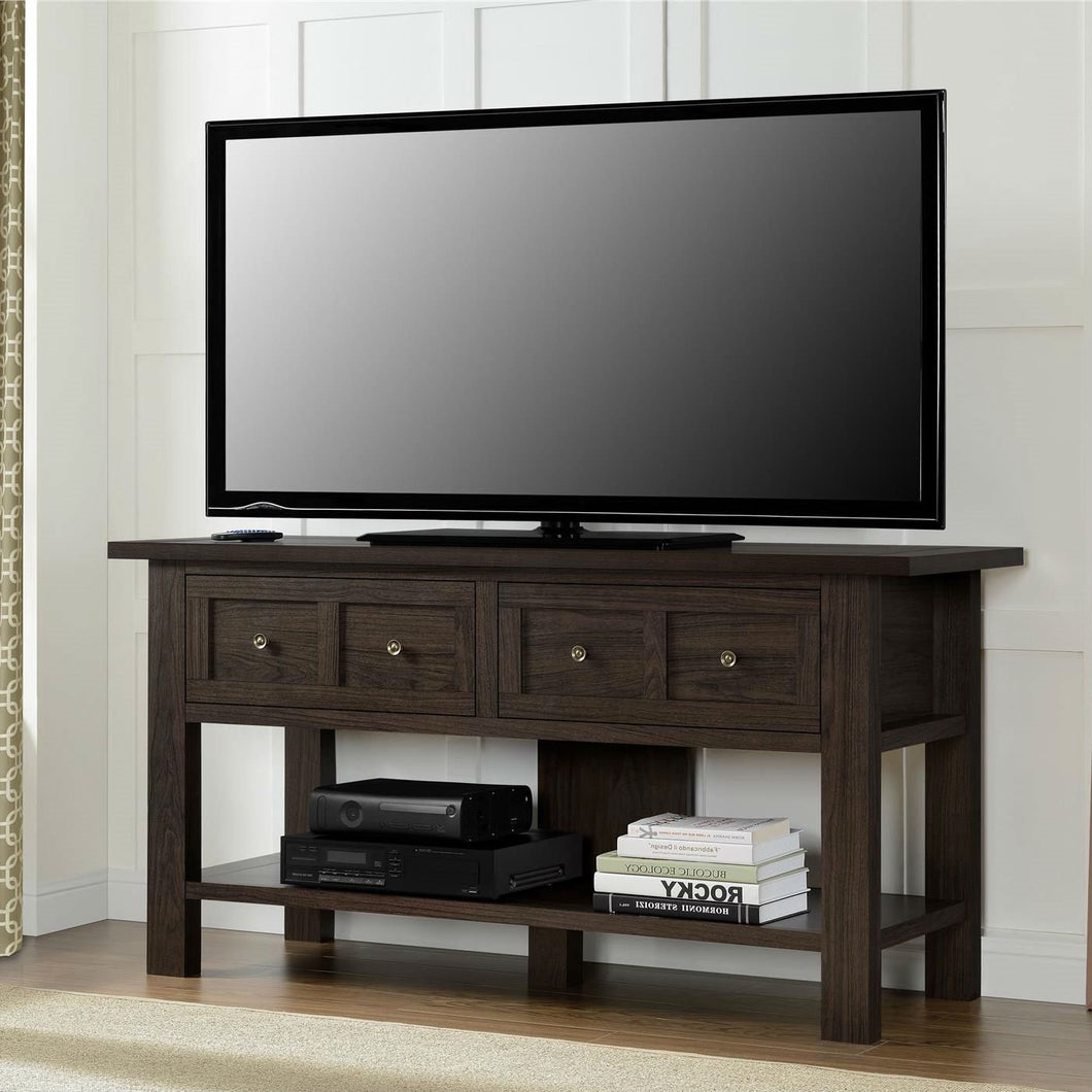 Classic 55-inch TV Stand Versatile Accent Console Table with 2 Storage Drawers