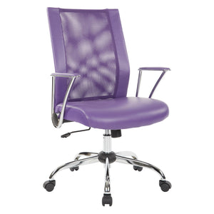 Ave Six Bridgeway Office Chair in Purple