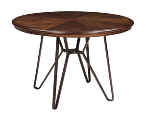 Centior Two-tone Brown Color Round Dining Room Table