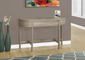 "48"" LONG DARK TAUPE ACCENT TABLE WITH A STORAGE DRAWER"