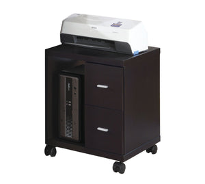 CAPPUCCINO 2 DRAWER OFFICE CABINET ON CASTORS
