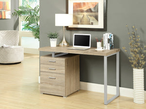 "48"" NATURAL FINISH COMPUTER DESK WITH FILE DRAWER"