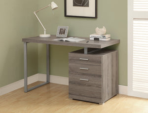 "48"" DARK TAUPE COMPUTER DESK WITH DRAWER"