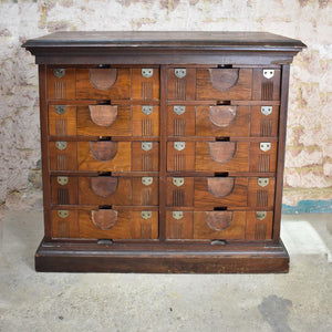 Antique Victorian Amberg Tambour Filing storage drawers