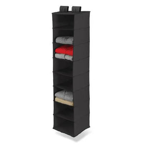 8-Shelf Hanging Closet Organizer, Black