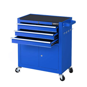 Giantz Tool Box Chest Cabinet Trolley Cart Storage Drawers Blue