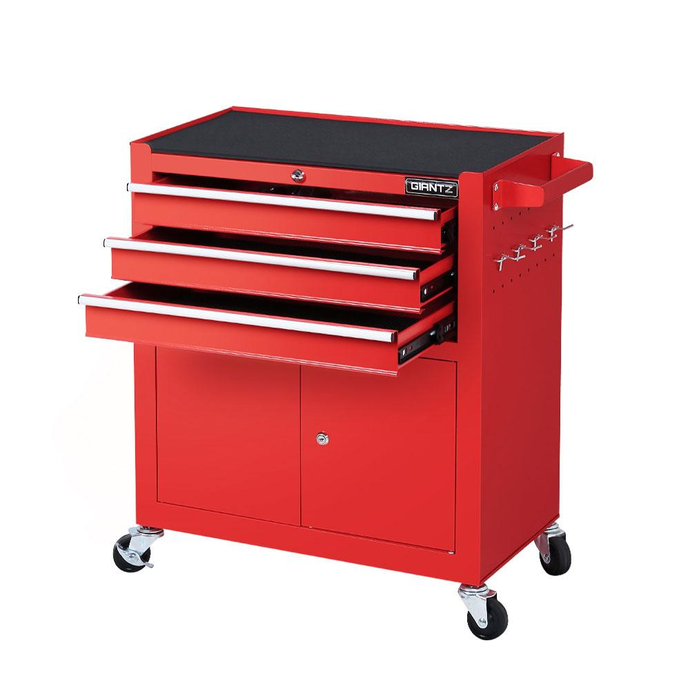 Giantz Tool Box Chest Cabinet Trolley Cart Storage Drawers Red