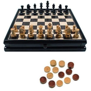 "Chess 15"" Black Stained Dual Set"