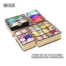 Load image into Gallery viewer, 4Pcs/Set Collapsible  Storage Drawer Closet Organizer Underwear, Socks.Scarfs